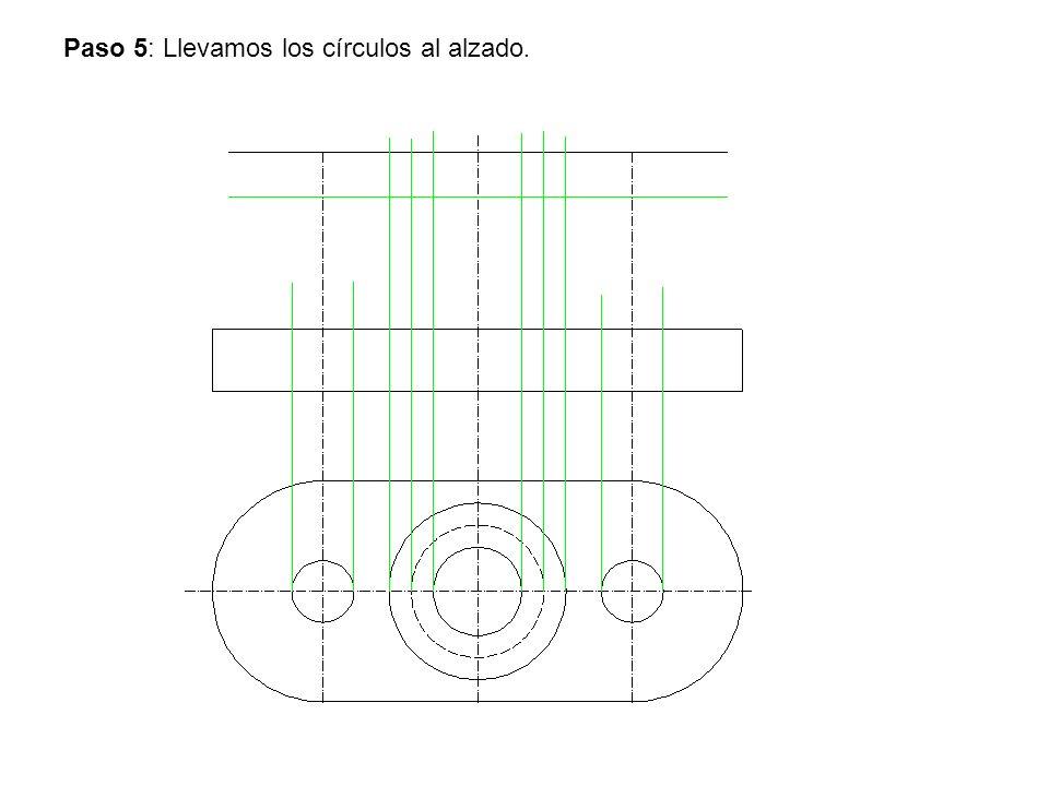 Paso 5: Llevamos los círculos al alzado.