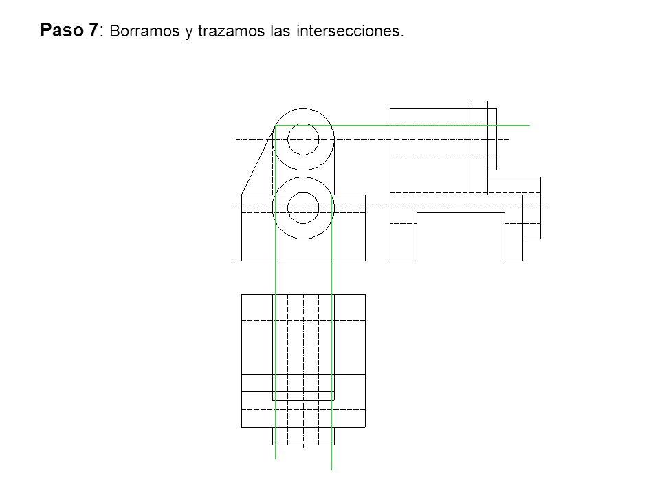 Paso 7: Borramos y trazamos las intersecciones.