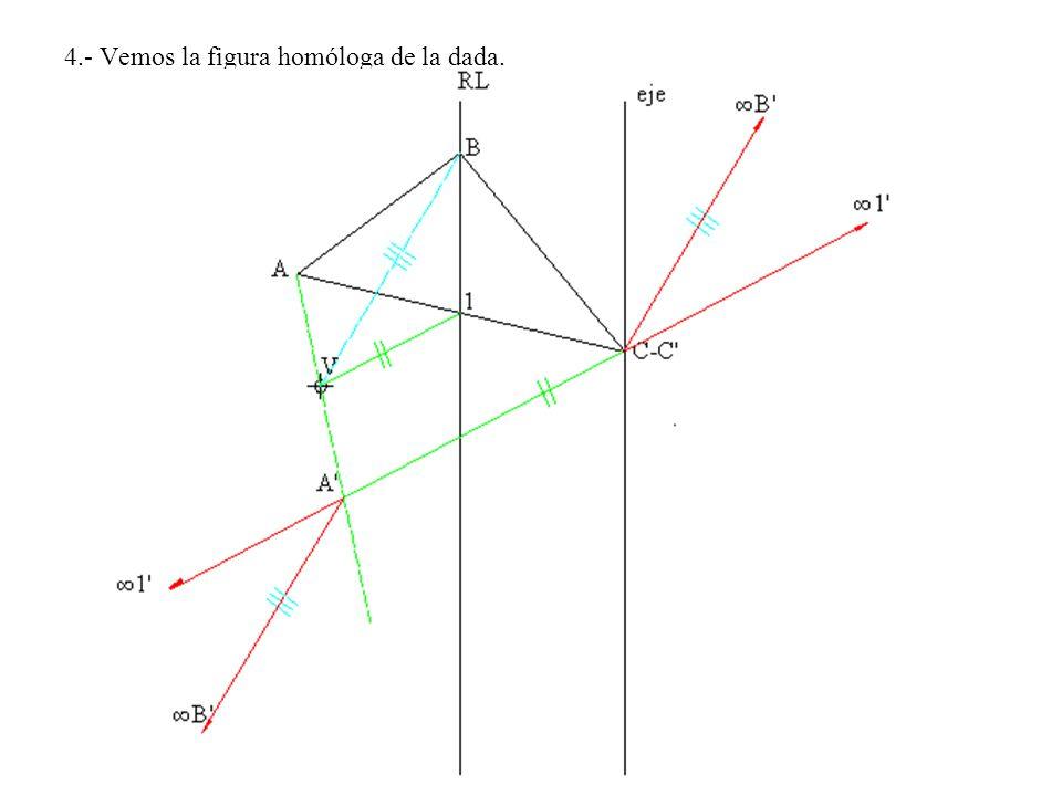 4.- Vemos la figura homóloga de la dada.