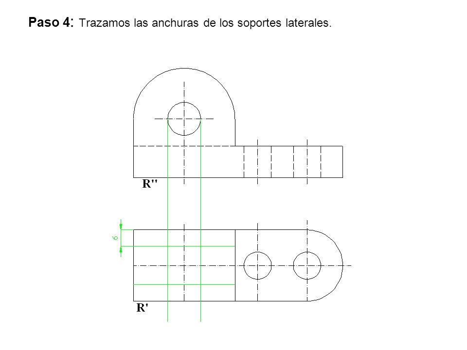 Paso 4: Trazamos las anchuras de los soportes laterales.