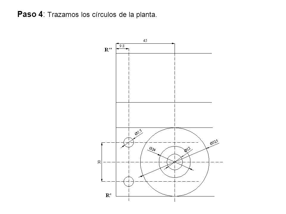 Paso 4: Trazamos los círculos de la planta.