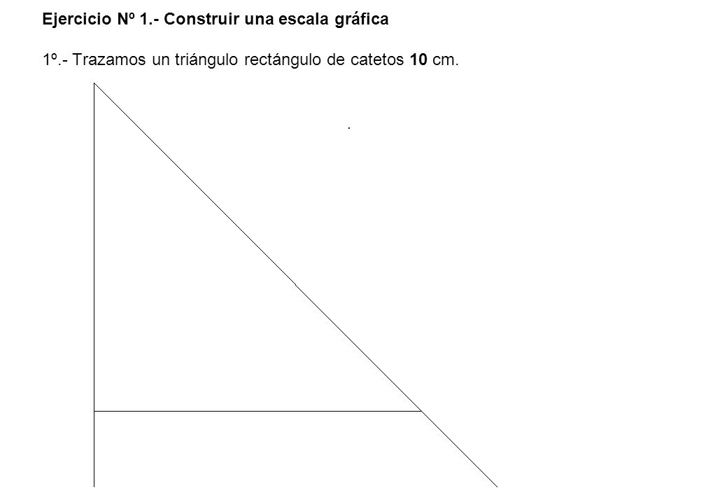 Ejercicio Nº 1. - Construir una escala gráfica 1º