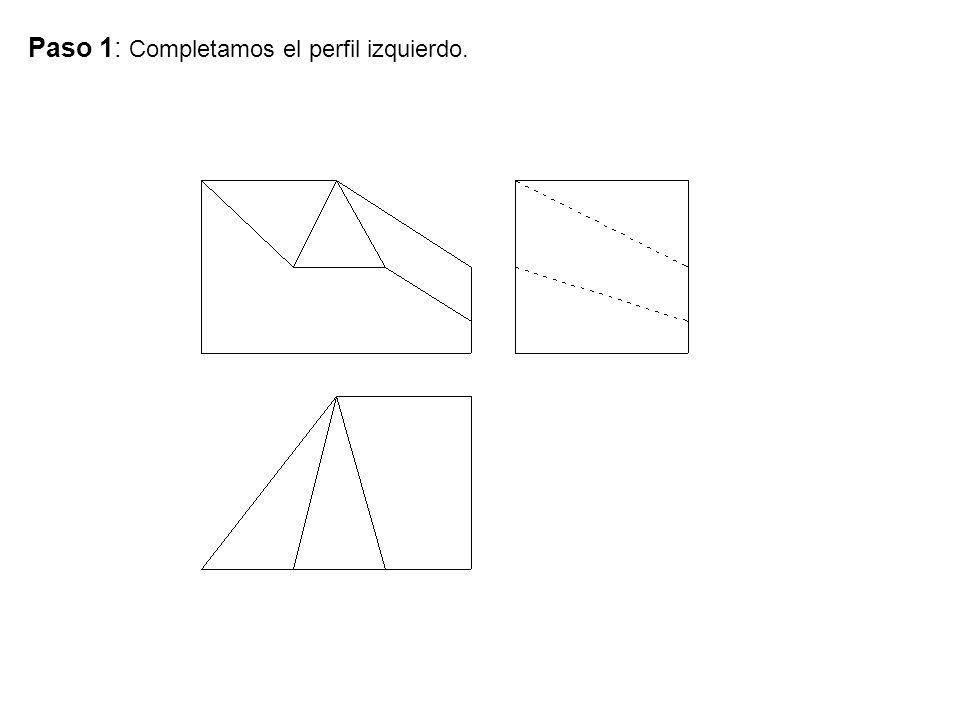 Paso 1: Completamos el perfil izquierdo.