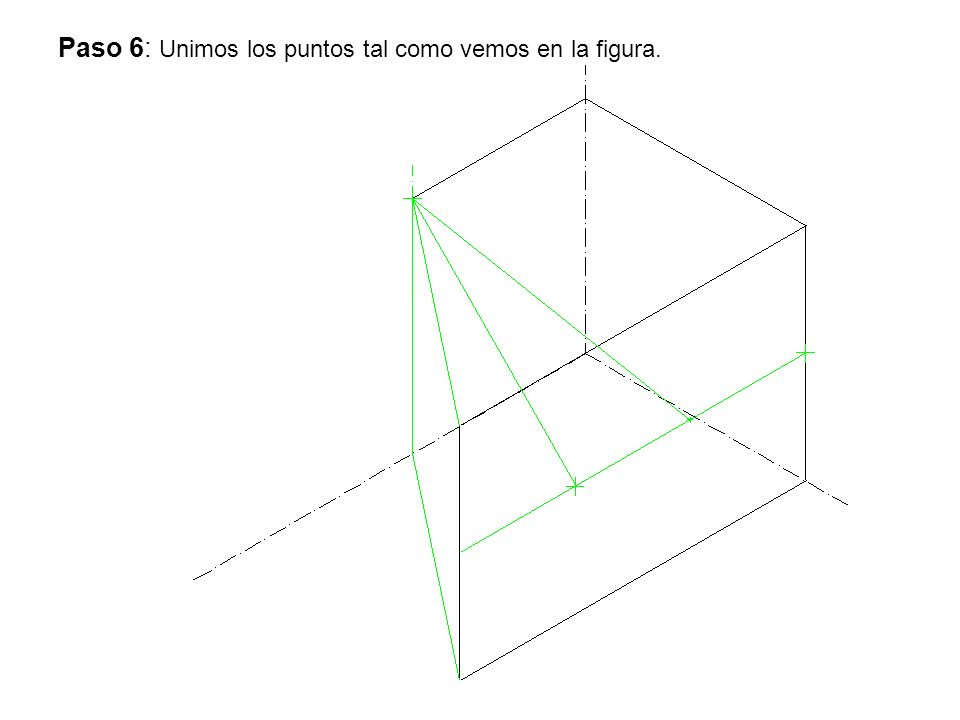 Paso 6: Unimos los puntos tal como vemos en la figura.