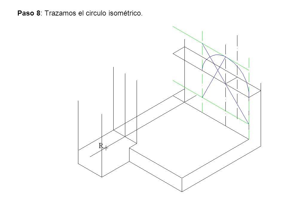 Paso 8: Trazamos el circulo isométrico.