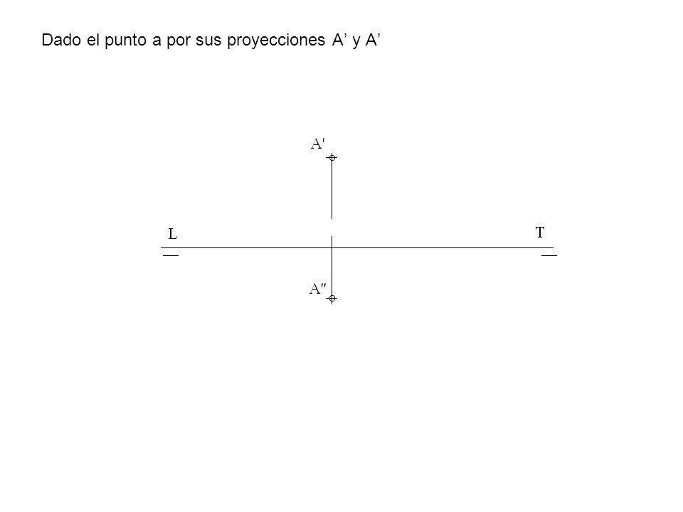Dado el punto a por sus proyecciones A' y A'