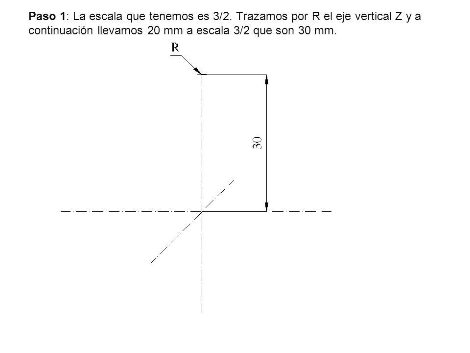 Paso 1: La escala que tenemos es 3/2