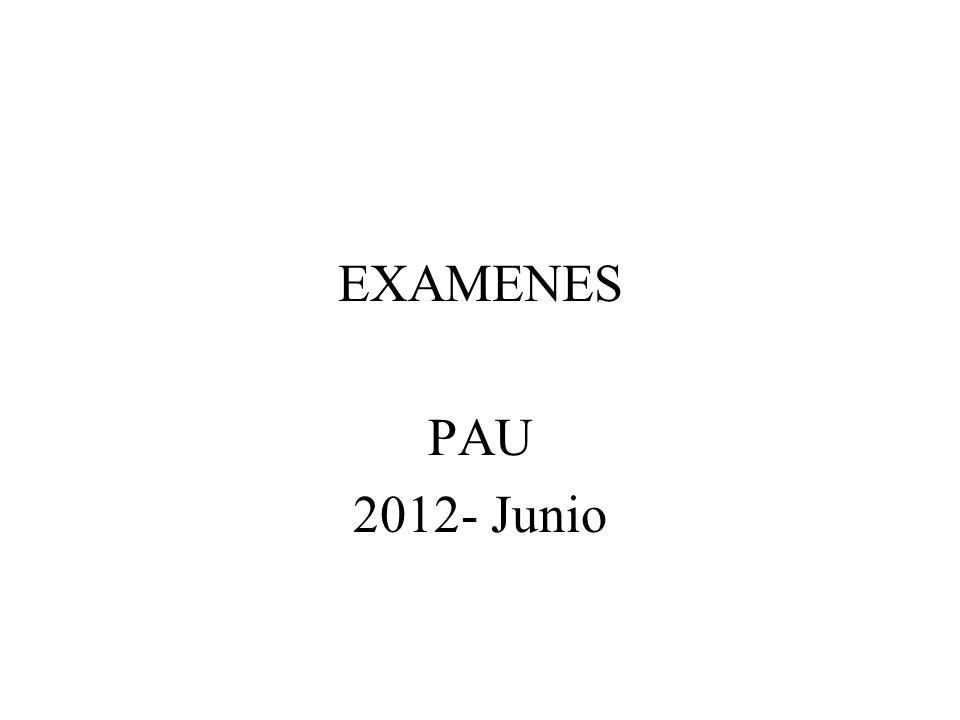 EXAMENES PAU 2012- Junio