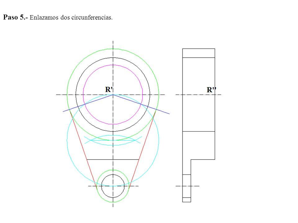 Paso 5.- Enlazamos dos circunferencias.