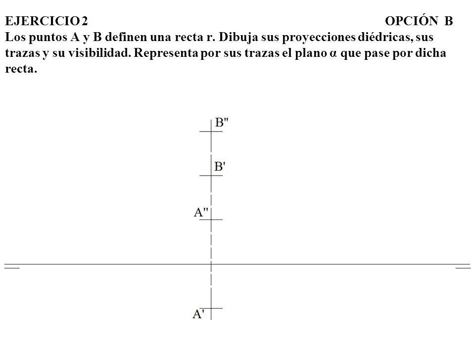 EJERCICIO 2. OPCIÓN B Los puntos A y B definen una recta r