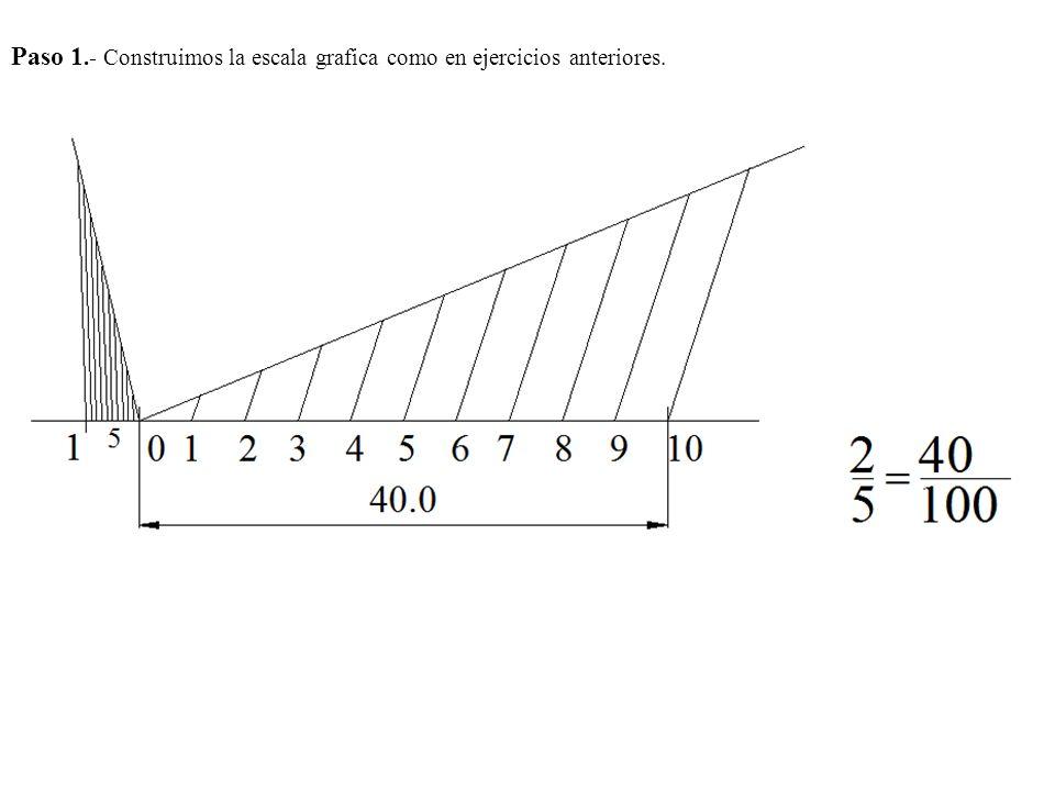Paso 1.- Construimos la escala grafica como en ejercicios anteriores.