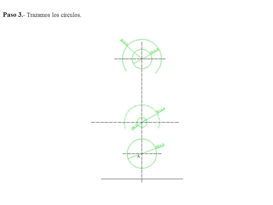 Paso 3.- Trazamos los círculos.