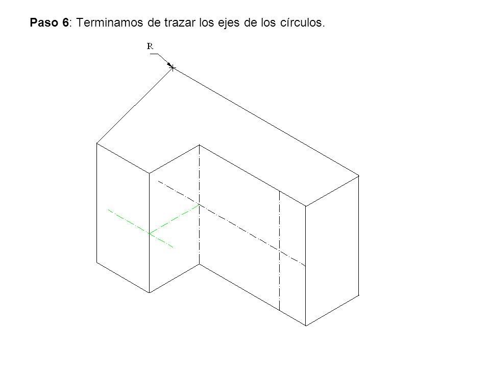 Paso 6: Terminamos de trazar los ejes de los círculos.