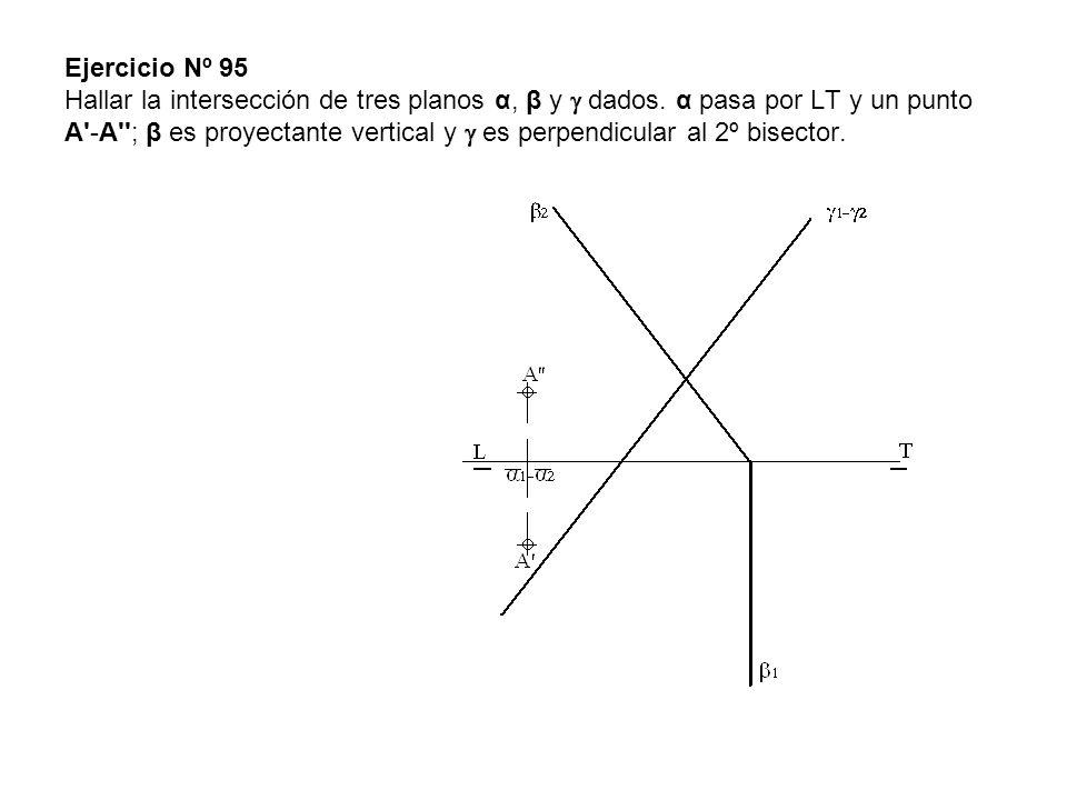 Ejercicio Nº 95 Hallar la intersección de tres planos α, β y  dados