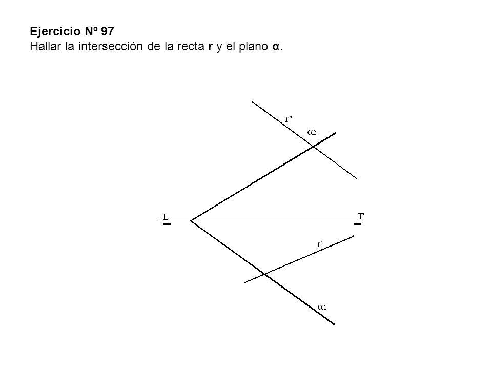 Ejercicio Nº 97 Hallar la intersección de la recta r y el plano α.