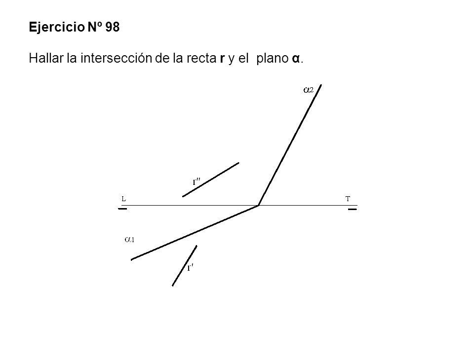 Ejercicio Nº 98 Hallar la intersección de la recta r y el plano α.