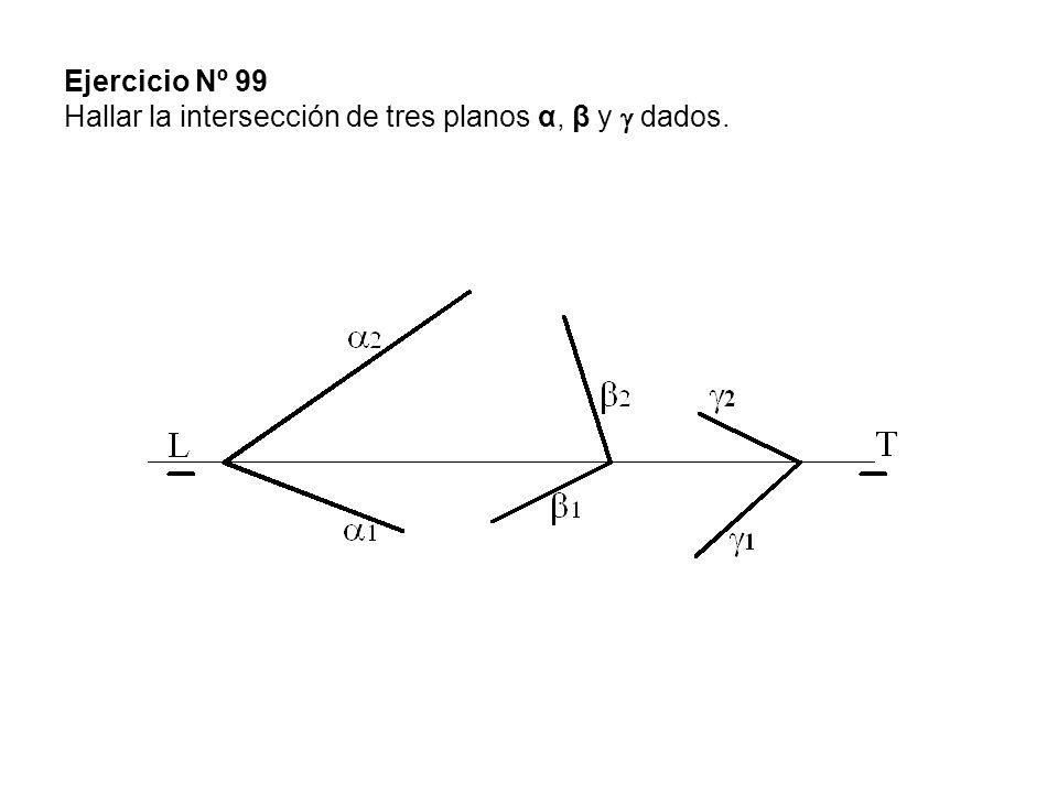 Ejercicio Nº 99 Hallar la intersección de tres planos α, β y  dados.
