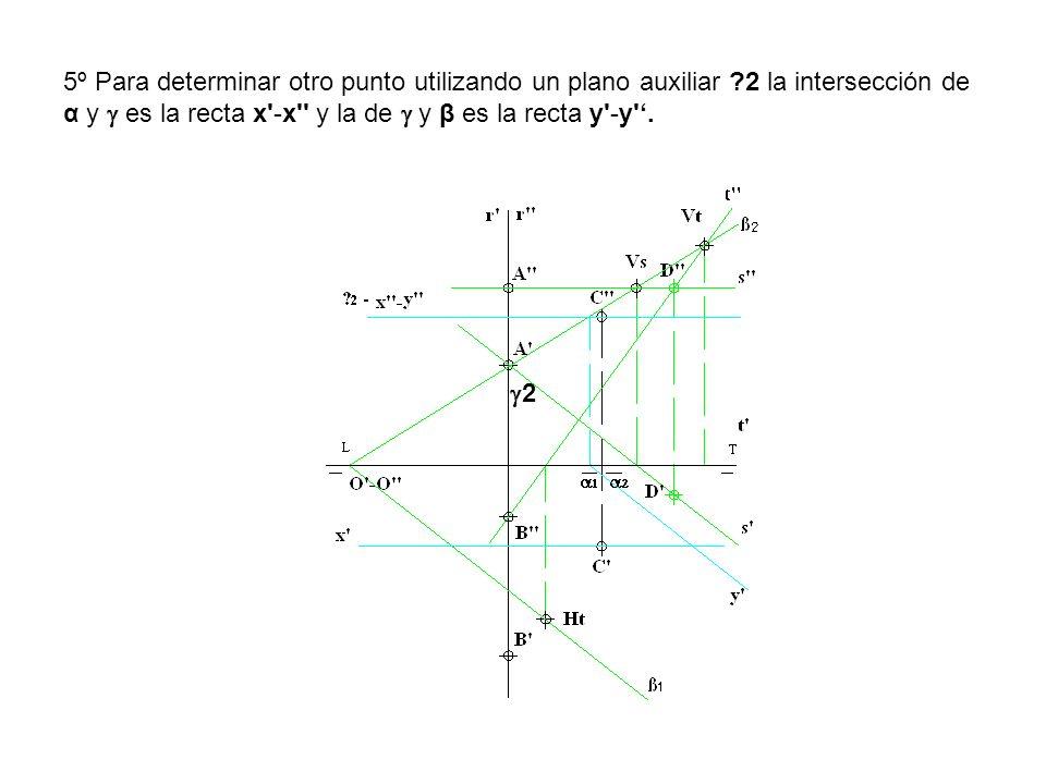 5º Para determinar otro punto utilizando un plano auxiliar