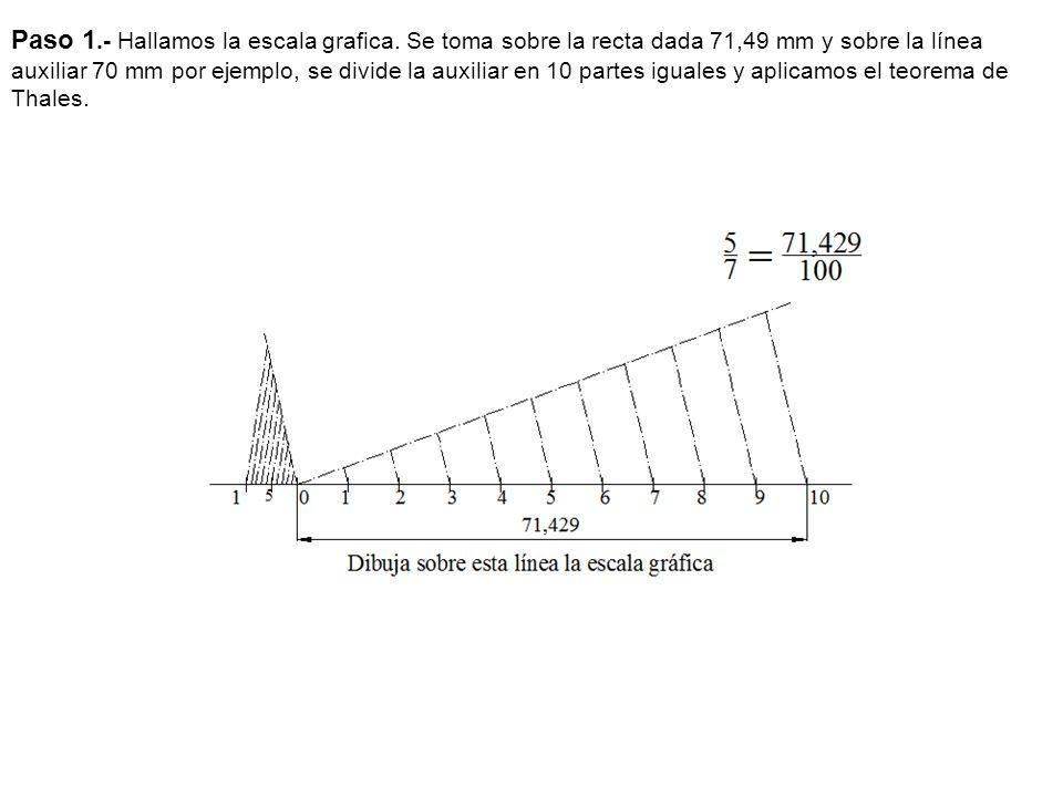 Paso 1. - Hallamos la escala grafica