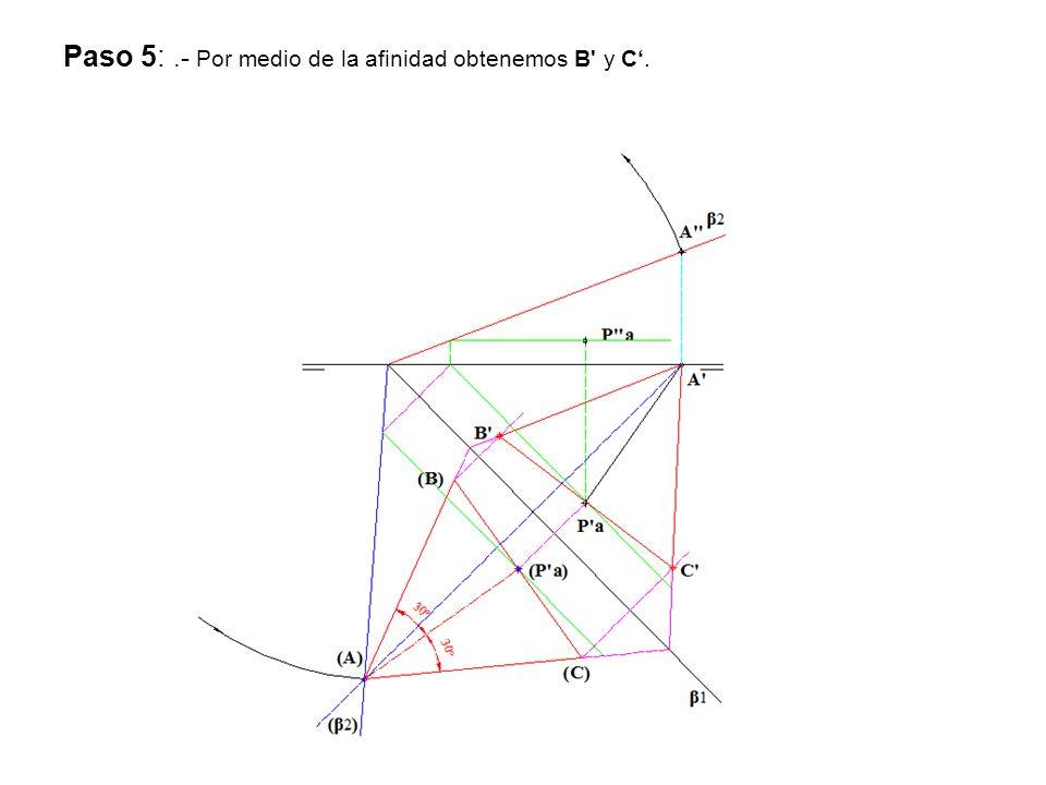 Paso 5: .- Por medio de la afinidad obtenemos B y C'.