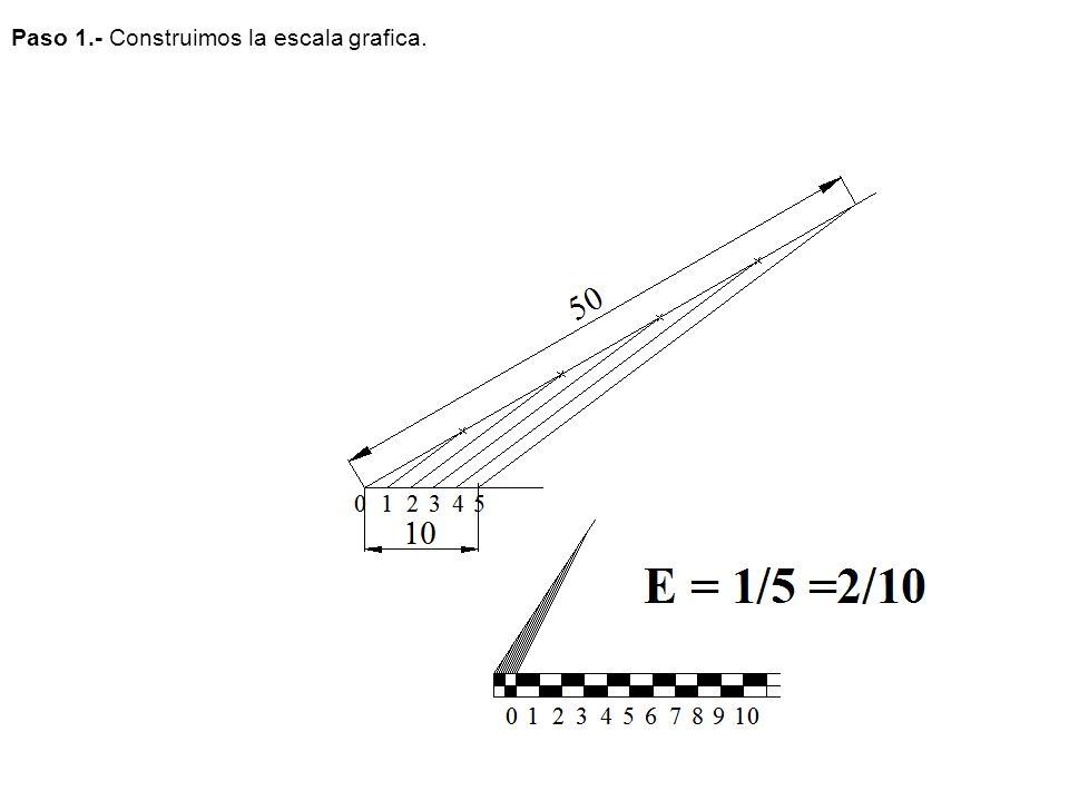 Paso 1.- Construimos la escala grafica.