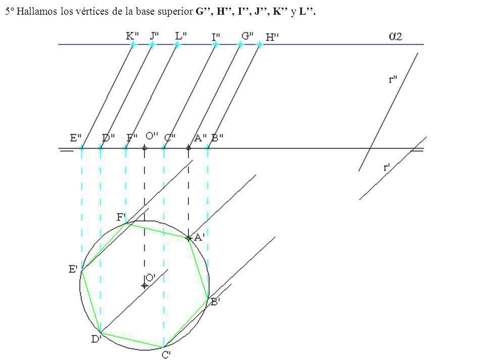 5º Hallamos los vértices de la base superior G'', H'', I'', J'', K'' y L''.