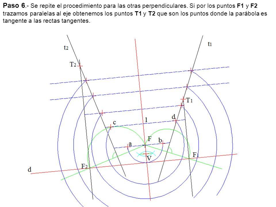 Paso 6. - Se repite el procedimiento para las otras perpendiculares