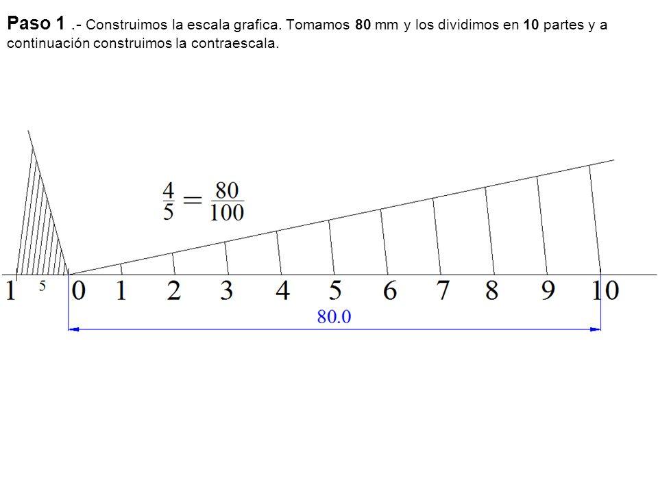Paso 1. - Construimos la escala grafica