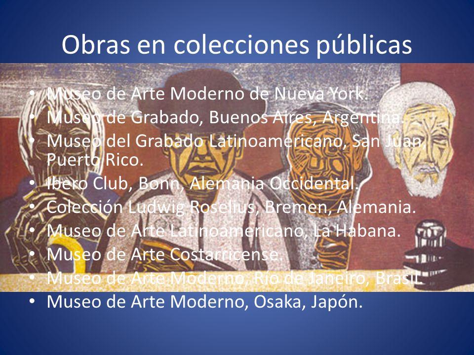 Obras en colecciones públicas