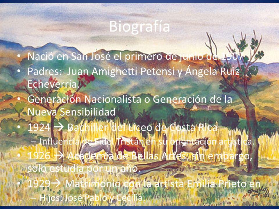 Biografía Nació en San José el primero de junio de 1907