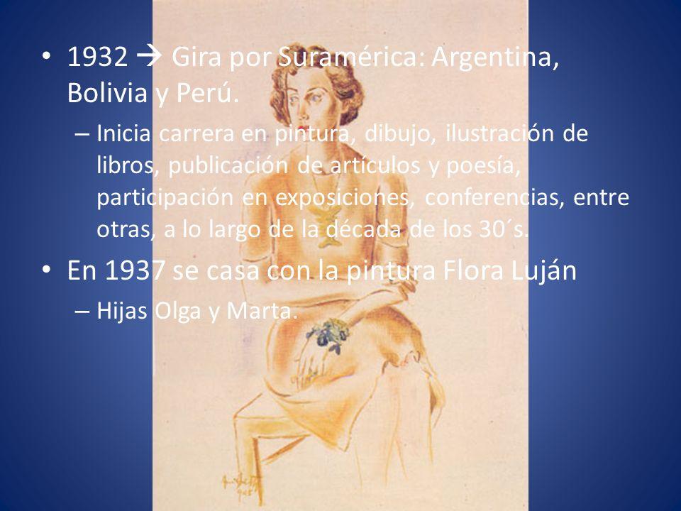 1932  Gira por Suramérica: Argentina, Bolivia y Perú.