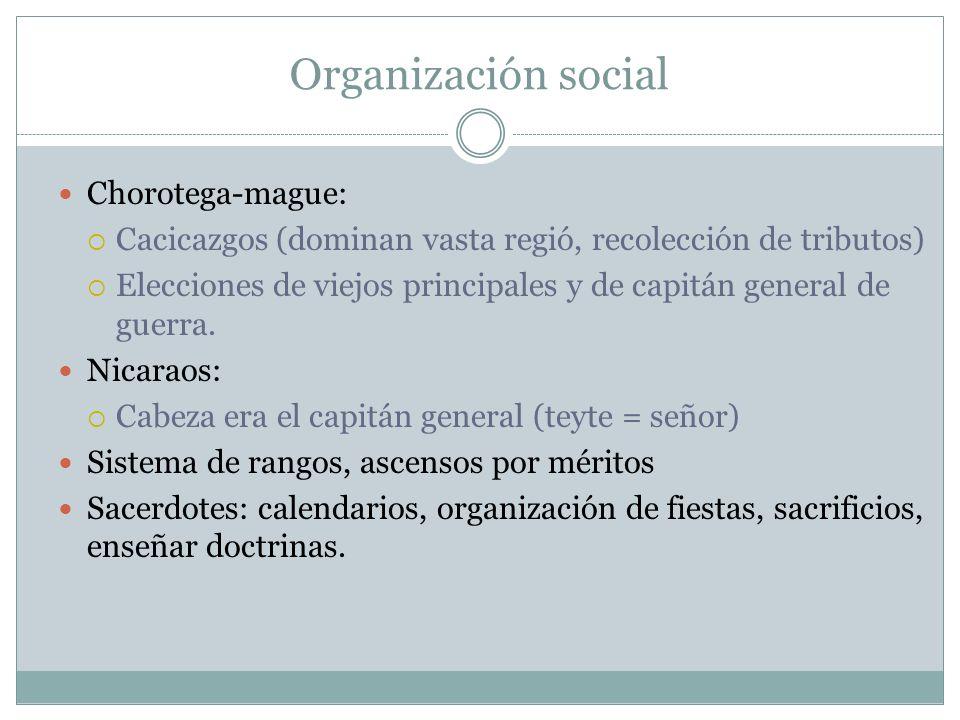 Organización social Chorotega-mague: