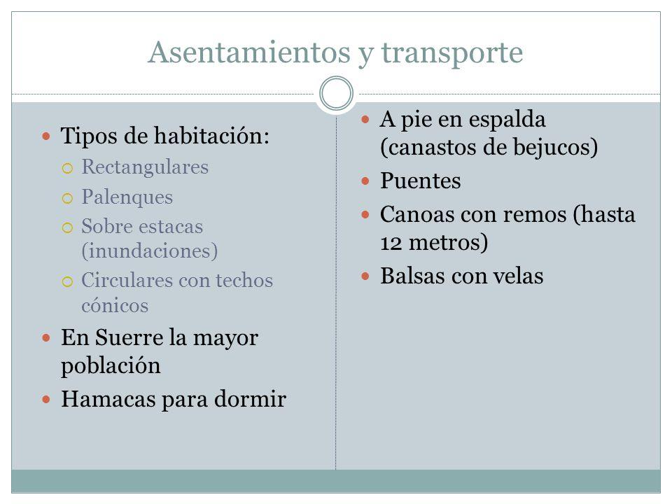 Asentamientos y transporte