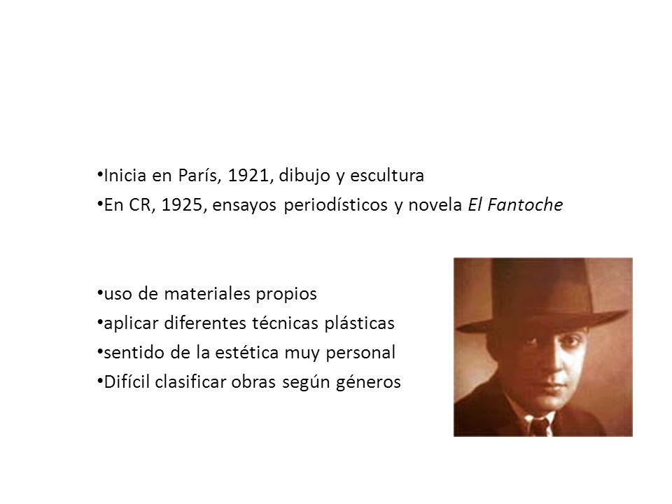 Max Jiménez Vida artística: Inicia en París, 1921, dibujo y escultura