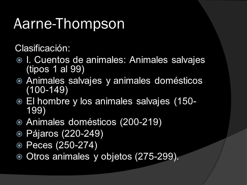 Aarne-Thompson Clasificación: