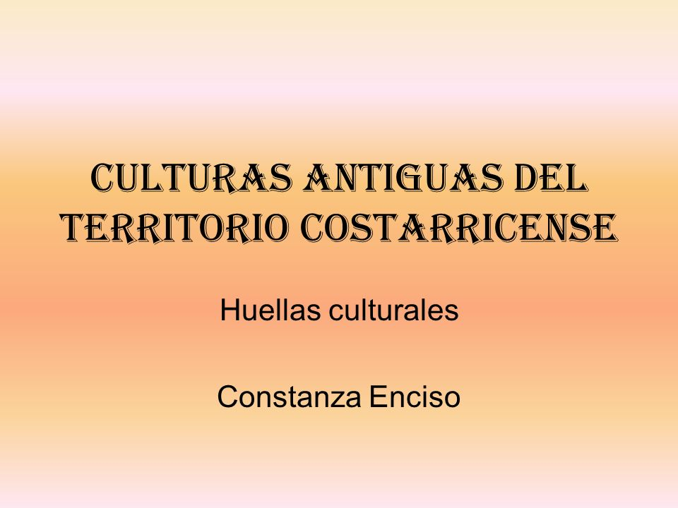 Culturas antiguas del territorio costarricense