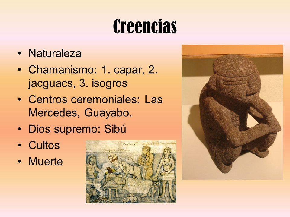 Creencias Naturaleza Chamanismo: 1. capar, 2. jacguacs, 3. isogros