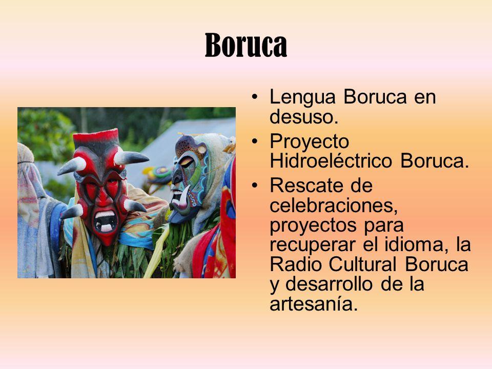 Boruca Lengua Boruca en desuso. Proyecto Hidroeléctrico Boruca.