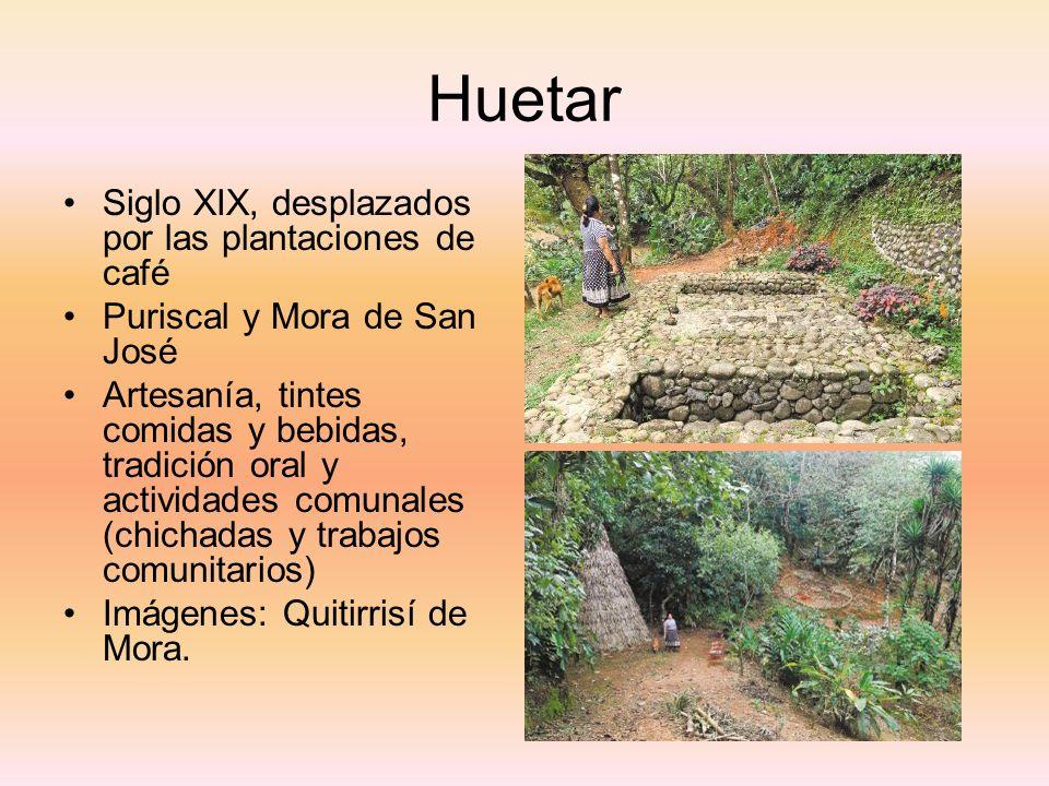Huetar Siglo XIX, desplazados por las plantaciones de café