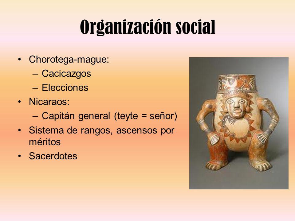 Organización social Chorotega-mague: Cacicazgos Elecciones Nicaraos: