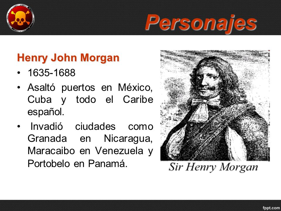 Personajes Henry John Morgan 1635-1688
