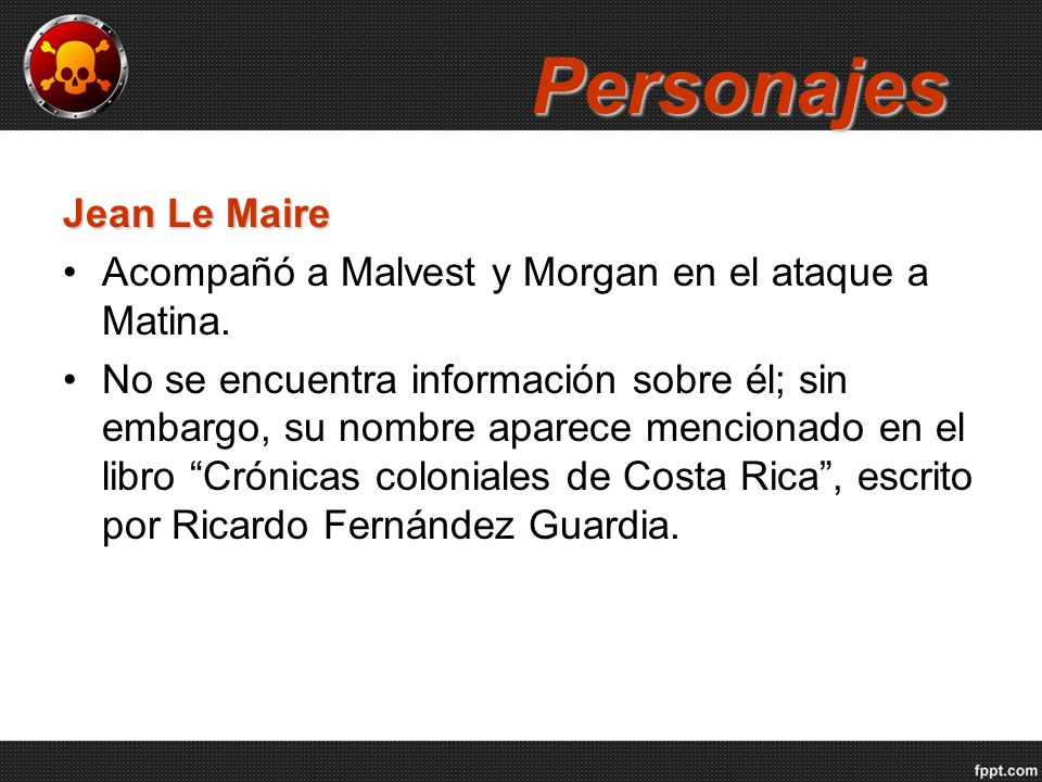 Personajes Jean Le Maire