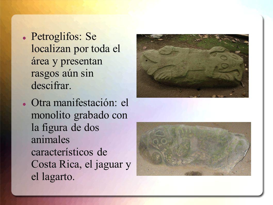 Petroglifos: Se localizan por toda el área y presentan rasgos aún sin descifrar.