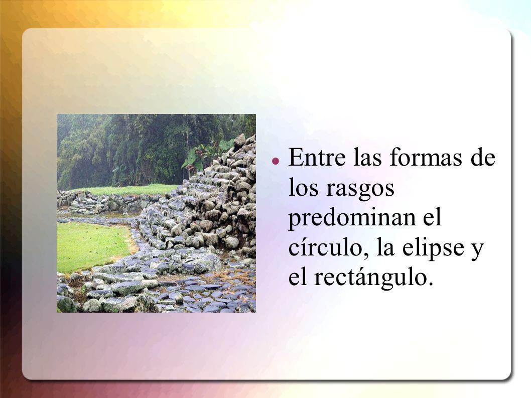 Entre las formas de los rasgos predominan el círculo, la elipse y el rectángulo.