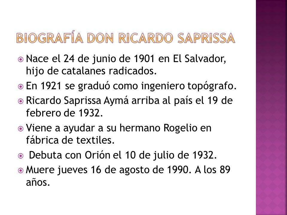 Biografía Don Ricardo Saprissa