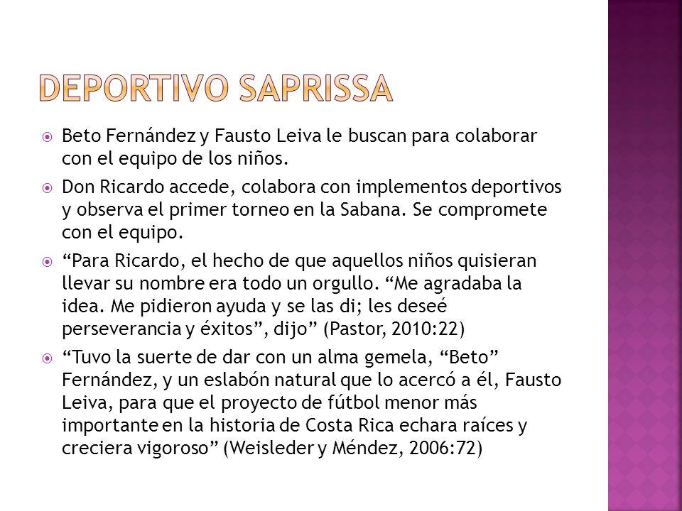 Deportivo Saprissa Beto Fernández y Fausto Leiva le buscan para colaborar con el equipo de los niños.