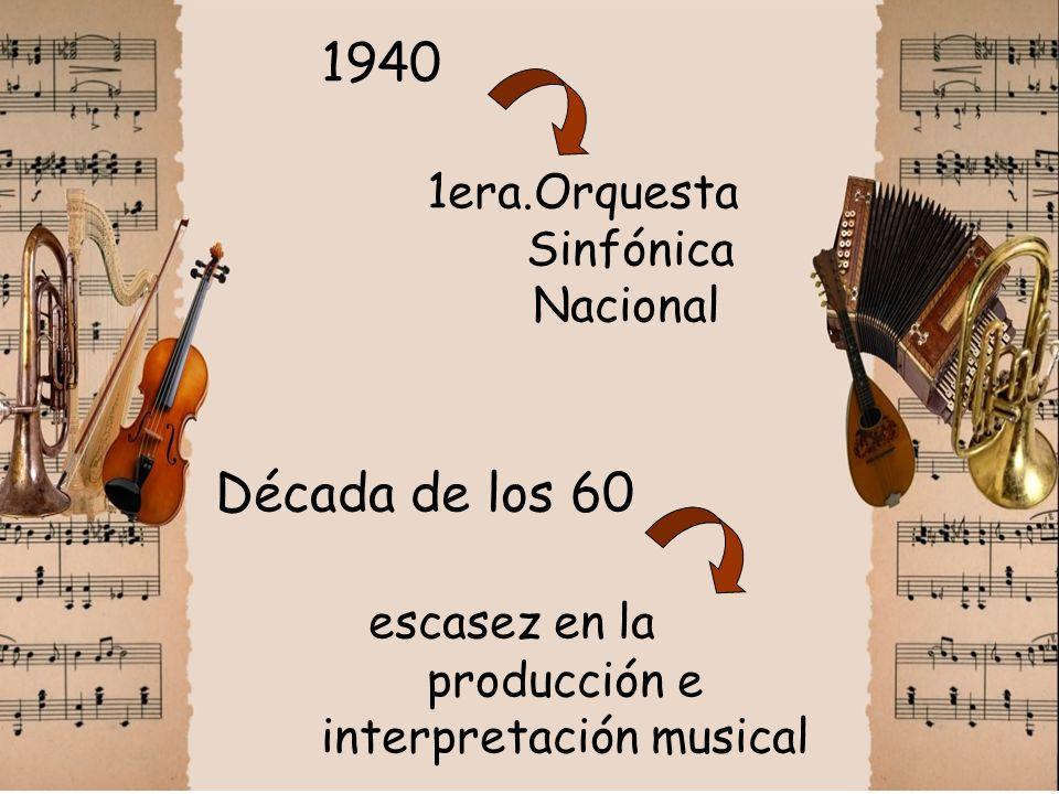 1940. 1era. Orquesta. Sinfónica. Nacional Década de los 60