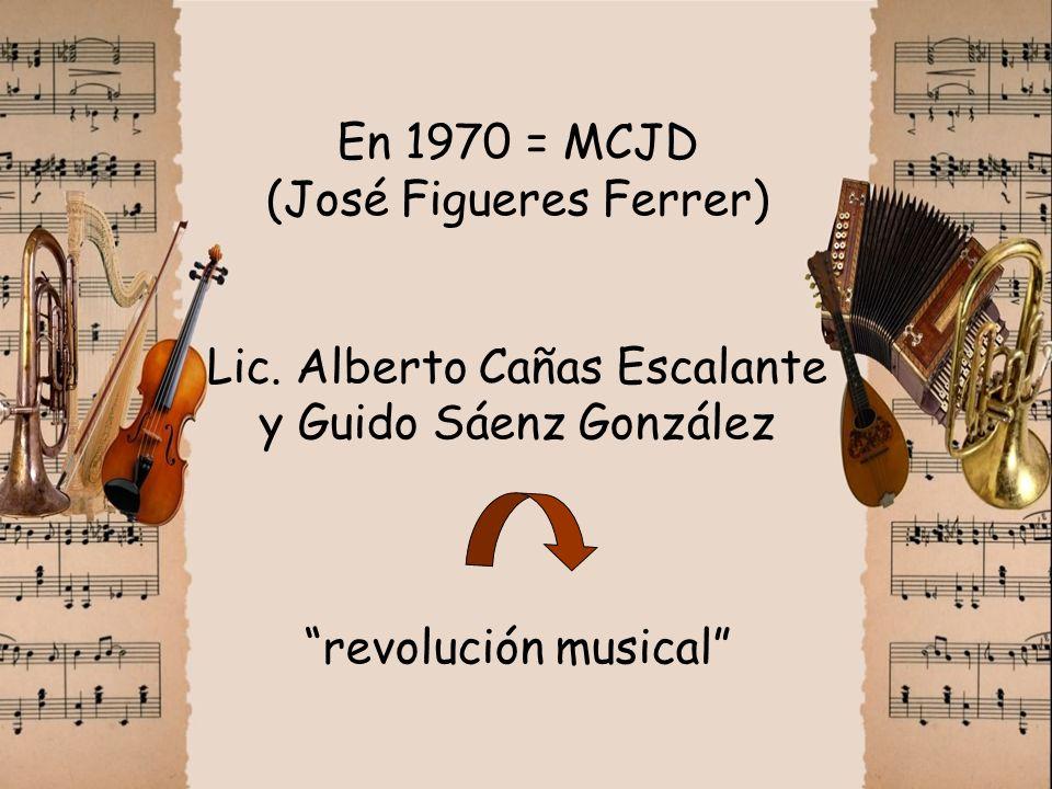 En 1970 = MCJD (José Figueres Ferrer) Lic