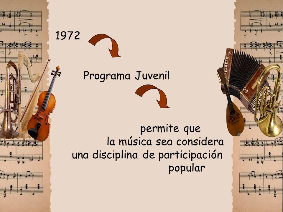 1972. Programa Juvenil. permite que