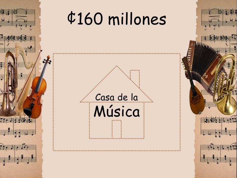 ¢160 millones Casa de la Música